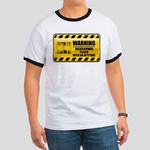 Warning Backgammon Player Ringer T