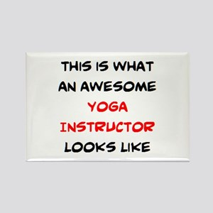 awesome yoga instructor Rectangle Magnet