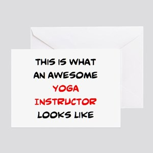 awesome yoga instructor Greeting Card