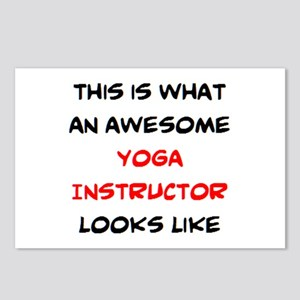 awesome yoga instructor Postcards (Package of 8)