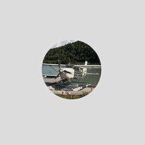 Float plane, Trail Lake, Alaska 2 Mini Button