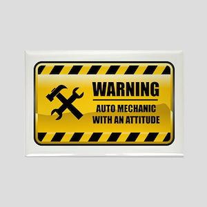 Warning Auto Mechanic Rectangle Magnet
