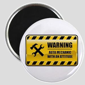 Warning Auto Mechanic Magnet
