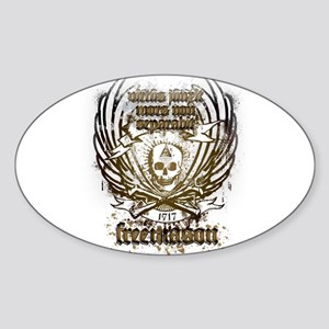 Masonic Couture Oval Sticker
