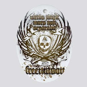 Masonic Couture Oval Ornament