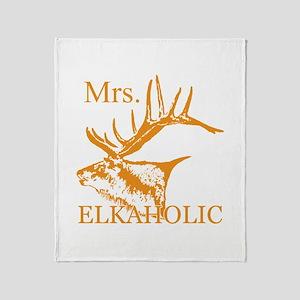 Mrs Elkaholic 2 Throw Blanket