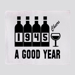 1945 A Good Year, Cheers Throw Blanket