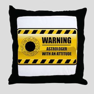 Warning Astrologer Throw Pillow