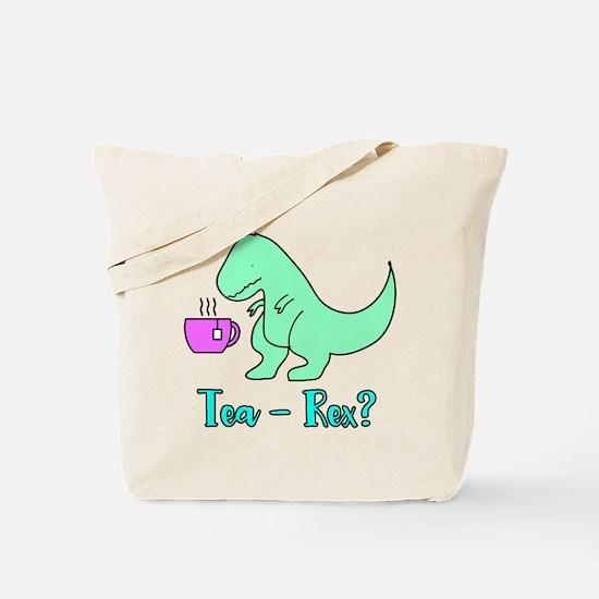 Tea-Rex T-Rex Cute Dinosaur Tote Bag