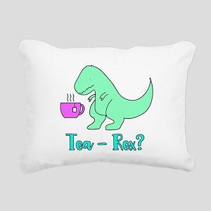 Tea-Rex T-Rex Cute Dinosaur Rectangular Canvas Pil