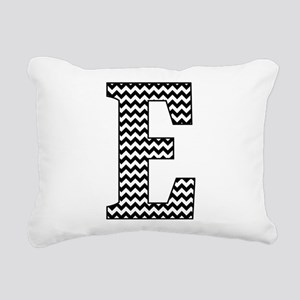 Black and White Chevron Rectangular Canvas Pillow