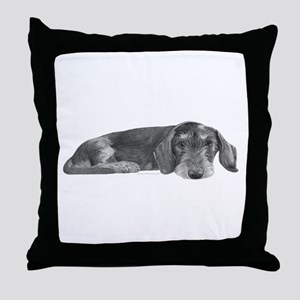 Wire Haired Dachshund Throw Pillow
