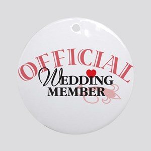 Wedding Party Ornament (Round)