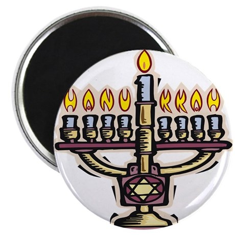 "Lit Menorah 2.25"" Magnet (100 pack)"