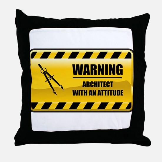 Warning Architect Throw Pillow