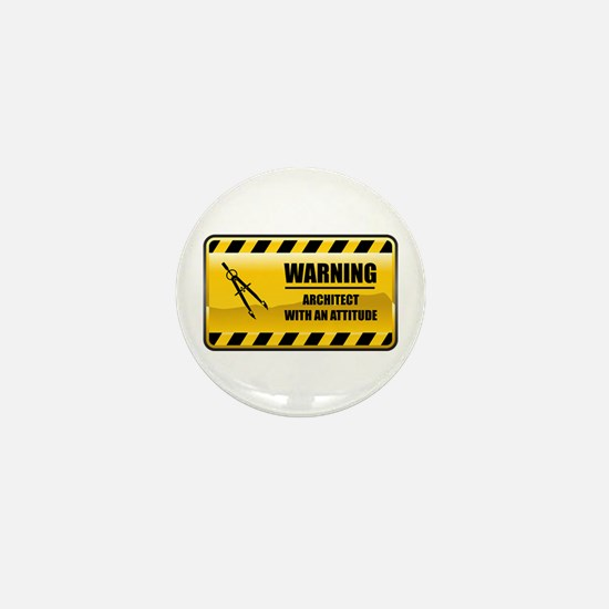 Warning Architect Mini Button