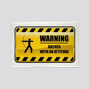 Warning Archer Rectangle Magnet