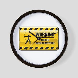 Warning Archer Wall Clock