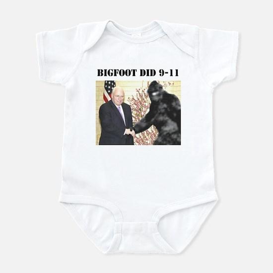 cheney bigfoot handshake Infant Bodysuit