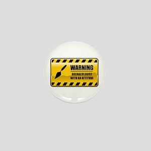 Warning Archaeologist Mini Button