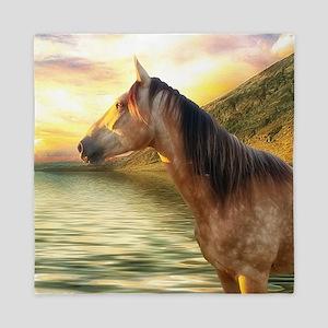 Horse on The Beach Queen Duvet