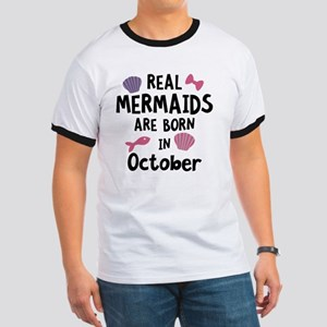 Mermaids are born in October Cbwn5 T-Shirt