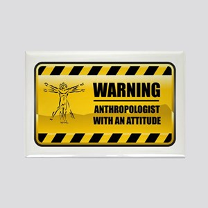Warning Anthropologist Rectangle Magnet