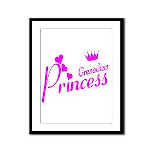 Grenadian Princess Framed Panel Print