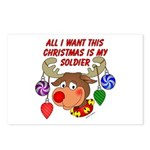Christmas I want my Soldier Postcards (Package of