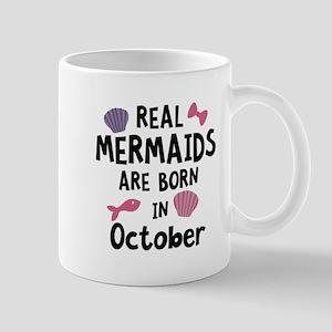Mermaids are born in October Cbwn5 Mugs