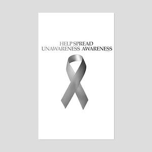 Unawareness Awareness Rectangle Sticker