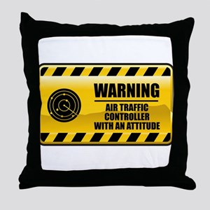 Warning Air Traffic Controller Throw Pillow