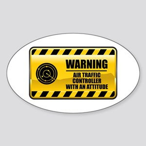 Warning Air Traffic Controller Oval Sticker