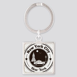 New York City Icons Square Keychain