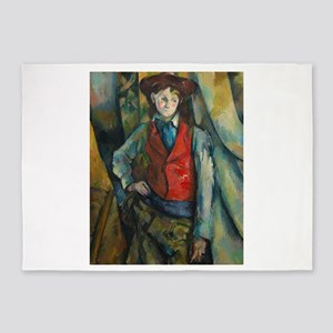 Boy in a Red Waistcoat by Paul Céza 5'x7'Area Rug