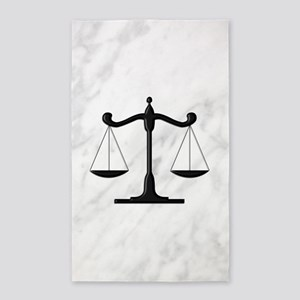 Scales of Justice Area Rug