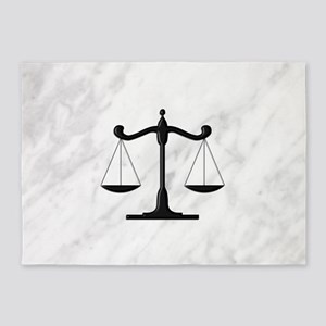 Scales of Justice 5'x7'Area Rug