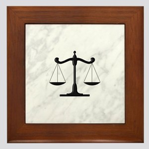 Scales Of Justice Framed Tile
