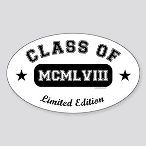 Class of 1958 Oval Sticker