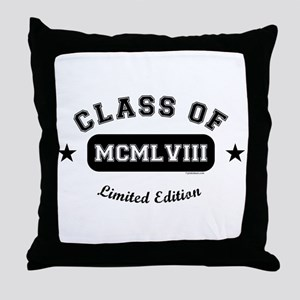 Class of 1958 Throw Pillow