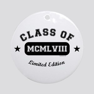 Class of 1958 Ornament (Round)