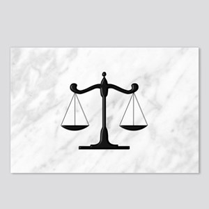 Scales of Justice Postcards (Package of 8)