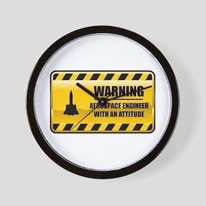 Warning Aerospace Engineer Wall Clock