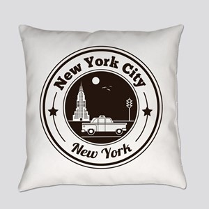 New York City Icons Everyday Pillow
