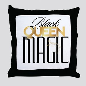 Black Queen Magic Throw Pillow