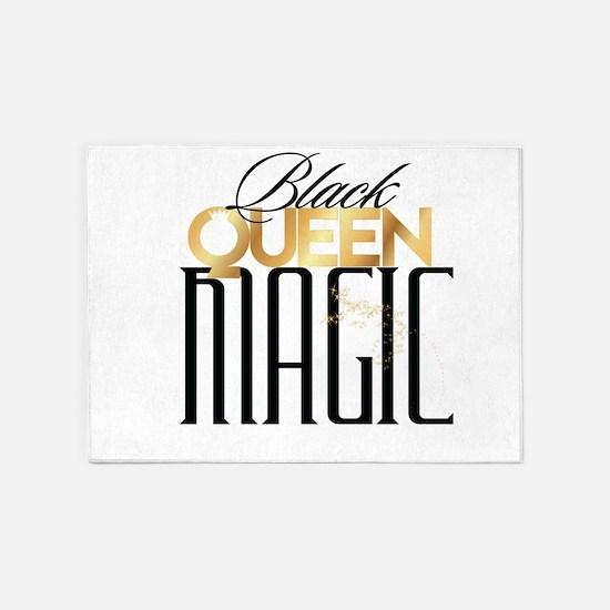 Black Queen Magic 5'x7'Area Rug