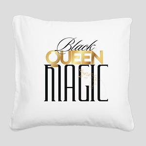 Black Queen Magic Square Canvas Pillow