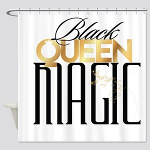 Black Queen Magic Shower Curtain