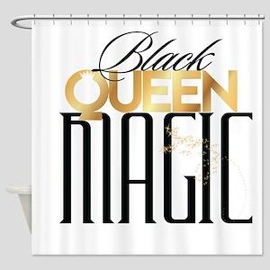 Black Queen Magic Shower Curtain