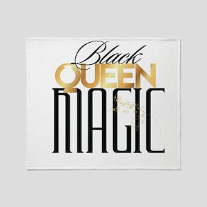 Black Queen Magic Throw Blanket
